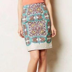 Anthropologie Maeve Manolya Linen Pencil Skirt